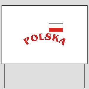 Polska-withflag Yard Sign