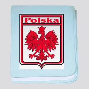 Polska Crest Shield baby blanket