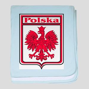Polska Crest Shield baby blanket