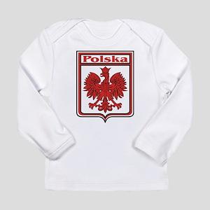 Polska Crest Shield Long Sleeve Infant T-Shirt