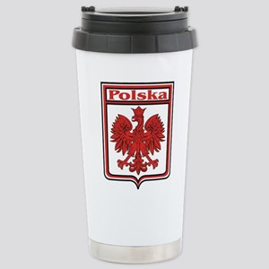 Polska Crest Shield Stainless Steel Travel Mug