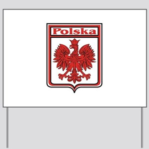 Polska Crest Shield Yard Sign