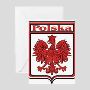 Polska Crest Shield Greeting Card