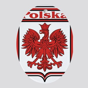 Polska Crest Shield Ornament (Oval)