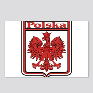 Polska Crest Shield Postcards (Package of 8)
