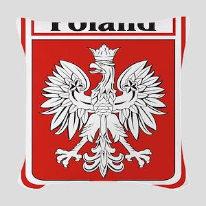 Poland-shield Woven Throw Pillow