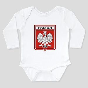 Poland-shield Long Sleeve Infant Bodysuit