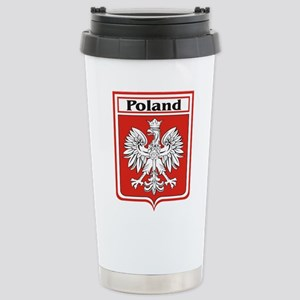 Poland-shield Stainless Steel Travel Mug