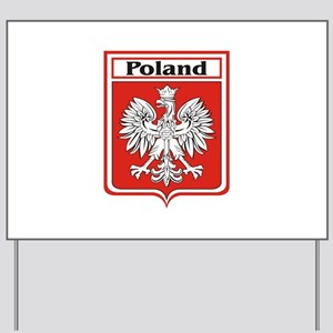 Poland-shield Yard Sign