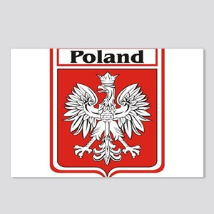 Poland-shield Postcards (Package of 8)