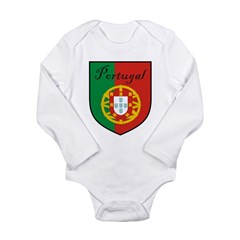 Portugal Flag Crest Shield Long Sleeve Infant Body