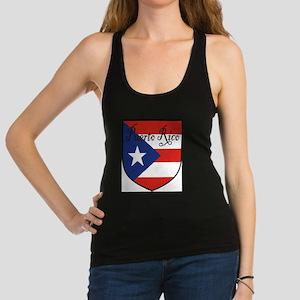 PuertoRico-Shield Racerback Tank Top