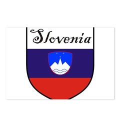 Slovenia Flag Crest Shield Postcards (Package of 8