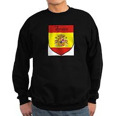 Spain Flag Crest Shield Sweatshirt (dark)