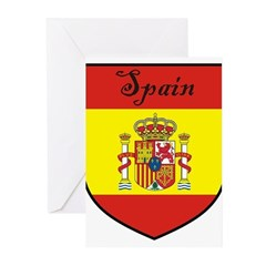 Spain Flag Crest Shield Greeting Cards (Pk of 20)