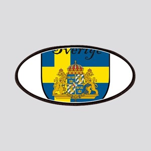 Sverige Flag Crest Shield Patches