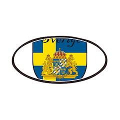 Sverige Flag Crest Shield Patches