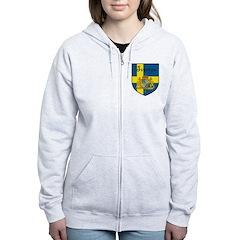 Sverige Flag Crest Shield Zip Hoodie