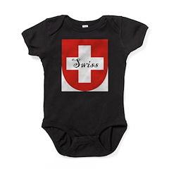 Swiss Flag Crest Shield Baby Bodysuit