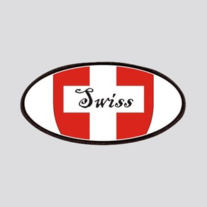 Swiss Flag Crest Shield Patches