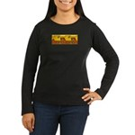 Aztec Design 1 Women's Long Sleeve Dark T-Shirt