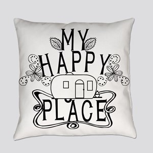 Camping My Happy Place Everyday Pillow