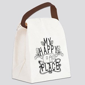 Camping My Happy Place Canvas Lunch Bag