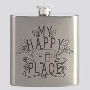 Camping My Happy Place Flask