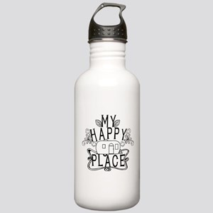 Camping My Happy Place Water Bottle