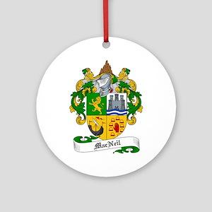 MacNeil Family Crest Ornament (Round)