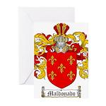 Maldonado Family Crest Greeting Cards (Pk of 10)