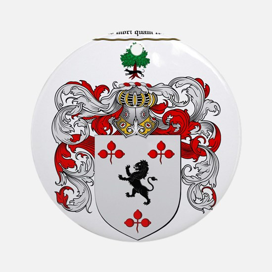 Malloy Family Crest Ornament (Round)
