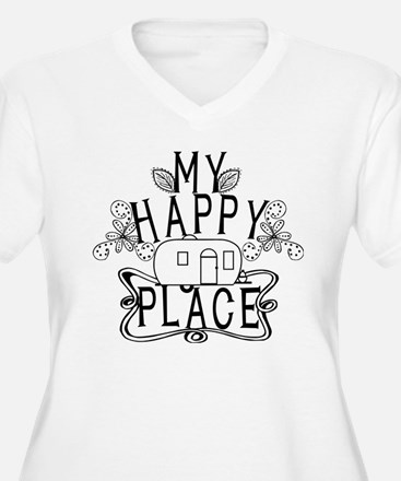 Camping My Happy Place Plus Size T-Shirt