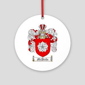 McBride Family Crest Ornament (Round)