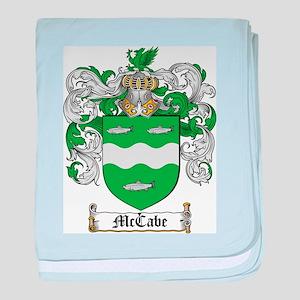McCabe Family Crest baby blanket