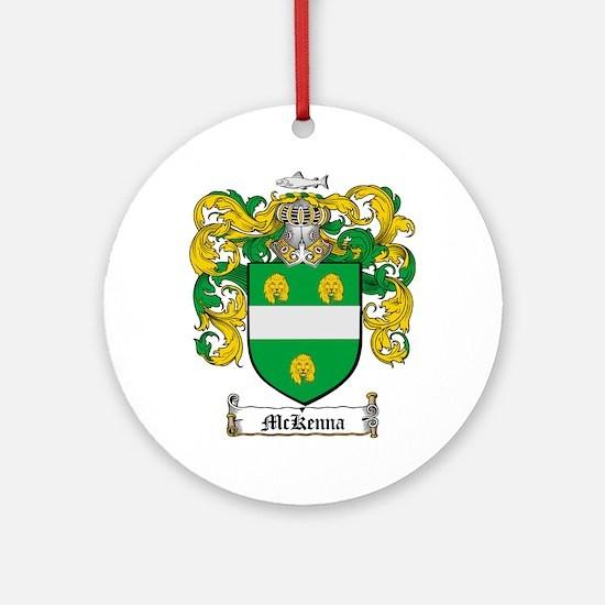 McKenna Family Crest Ornament (Round)