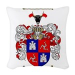 McLeod Family Crest Woven Throw Pillow