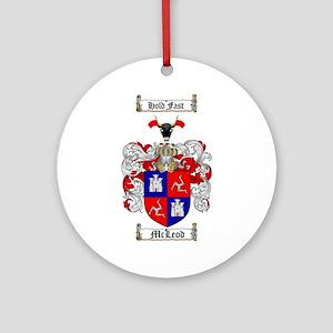 McLeod Family Crest Ornament (Round)