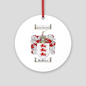 McMahon Family Crest Ornament (Round)