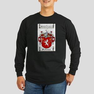 McNamara Family Crest Long Sleeve Dark T-Shirt