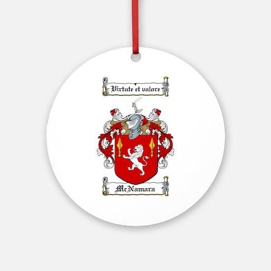 McNamara Family Crest Ornament (Round)