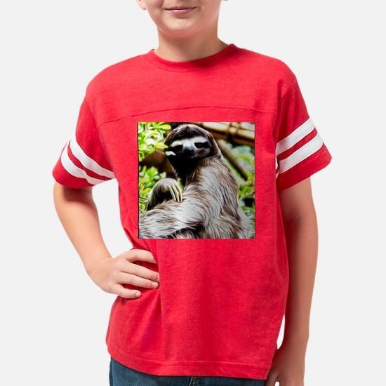 Sloth Painting Youth Football Shirt