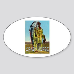 CRAZY HORSE Sticker (Oval)