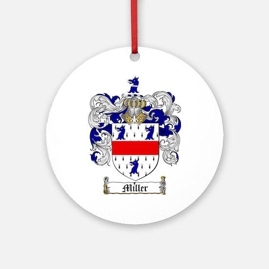 Miller Family Crest Ornament (Round)