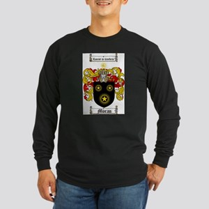 Moran Family Crest Long Sleeve Dark T-Shirt