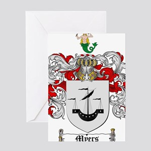 Myers Family Crest Greeting Card