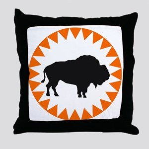 Houston Buffaloes Throw Pillow