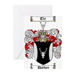 Parker Family Crest Greeting Cards (Pk of 20)