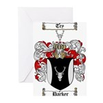 Parker Family Crest Greeting Cards (Pk of 10)