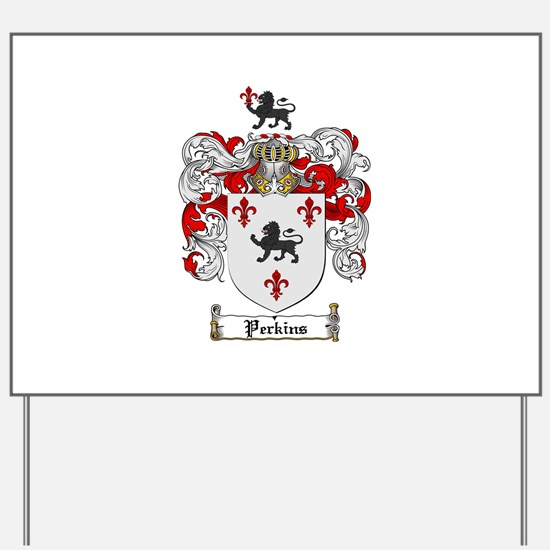 Perkins Family Crest Yard Sign